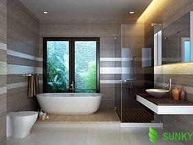 Thiết kế chiếu sáng phòng tắm hiệu quả