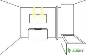 Ý tưởng chiếu sáng kết hợp đồ nội thất phòng tắm