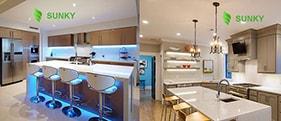 Tư vấn lắp đặt đèn led âm trần cho phòng bếp gia đình