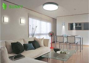 Cách lựa chọn, bố trí đèn led ốp trần phù hợp không gian phòng khách