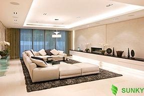 Những loại đèn led thích hợp chiếu sáng phòng khách