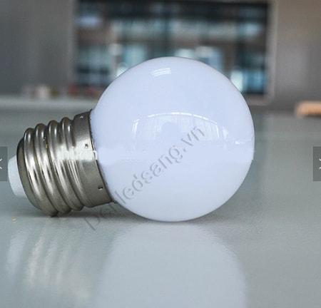 bóng đèn led 2w giáng sinh màu trắng