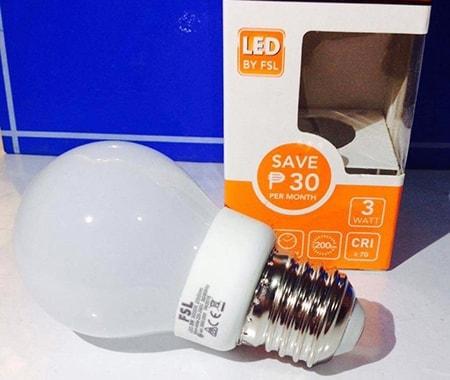 Bóng đèn led bulb tròn 3w fsl