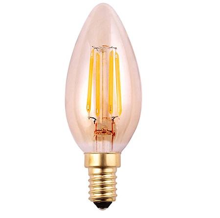 Bóng đèn led sợi tóc mẫu C35FC hổ phách