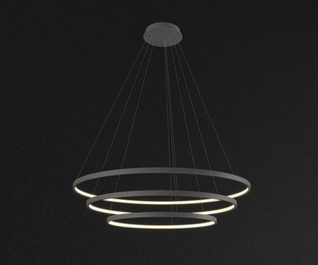 Đèn thả trần bàn ăn vòng tròn đồng tâm