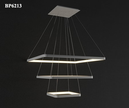 Đèn thả trần phòng khách hình vuông