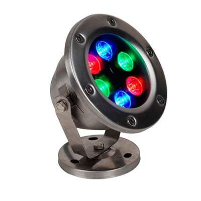 Serie đèn led âm nước RGB đế kim loại