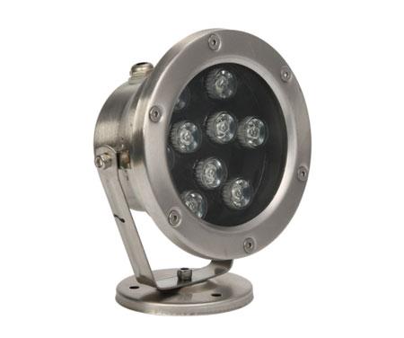 Đèn LED âm nước 9W đế kim loại