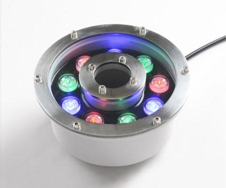 Đèn LED âm nước đổi màu 9W kiểu bánh xe