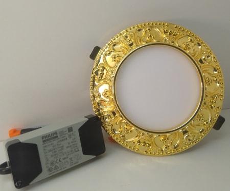 Đèn led âm trần 6W/Ø90 cao cấp mạ vàng 24K