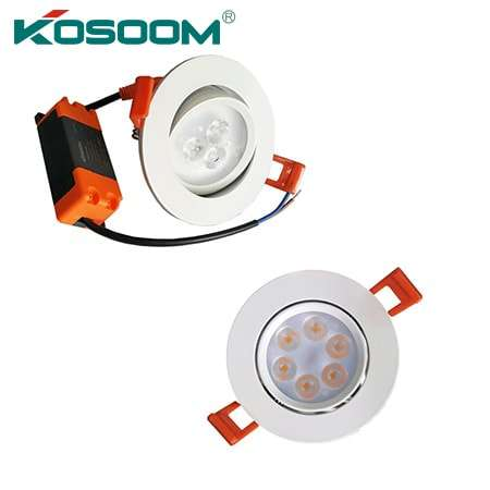 Đèn âm trần chiếu rọi Kosoom 3w, 6w