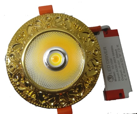 Đèn led Spotlight âm trần 10W/Ø95 mạ vàng