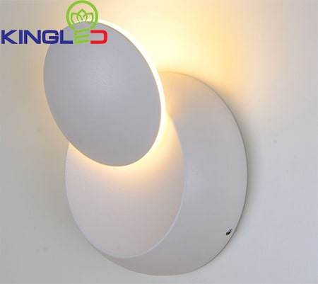 Đèn gắn tường 6w phòng ngủ ánh sáng vàng LWA010A-WH/BK