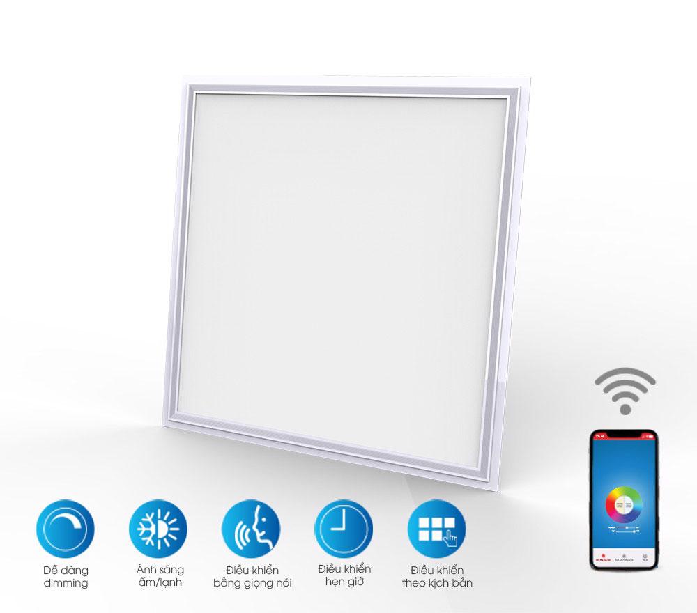 Đèn panel 600x600 điều khiển bằng wifi, giọng nói