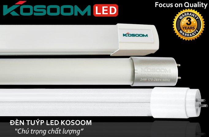 Sản phẩm đèn tuýp led Kosoom chất lượng cao